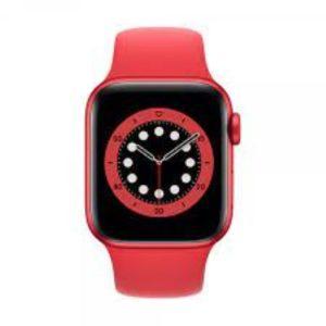 ابل ساعة ذكية سيريز 6 جي بي اس 40 ملم احمر M00A3LL/A
