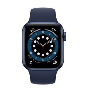 ابل ساعة ذكية سيريز 6 جي بي اس 44 ملم ازرق موديل رقم: M00J3AE/A