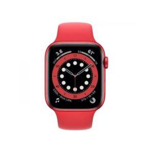 ابل ساعة ذكية سيريز 6 جي بي اس 44 ملم احمر موديل رقم: M00M3AE/A